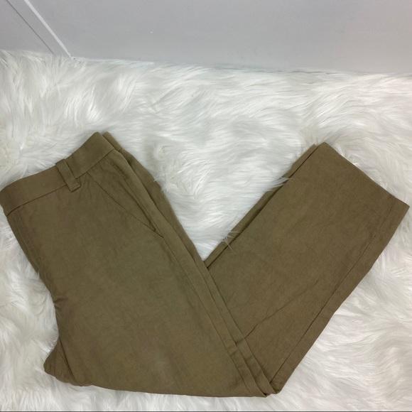 Vince Pants - VINCE Wide Leg Linen Khaki Pants